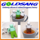 Populäres Selling Lazy Mr. Tea Silicone Tea Infuser mit Removable Hands
