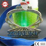 Médaille d'or de lampe-torche du prix usine de médaille LED avec le cristal