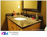 A vaidade artificial da pedra do granito da natureza cobre o banheiro Worktops