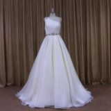 Fat Womenのための251きれいなOne Shoulder Organza Bridal Wedding Dress