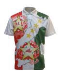 Chemise de polo estampée par sublimation d'hommes