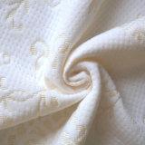 De witte Stof van de Jacquard van de Polyester van 100% voor Matras