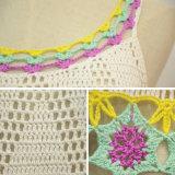 Las mujeres forman el suéter de acrílico del chaleco del ganchillo de la cosecha