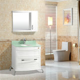 Пол европейского типа белый - установленные шкафы ванной комнаты PVC
