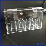 Caisse antipoussière de support de Lipgloss d'organisateur acrylique de rouge à lievres