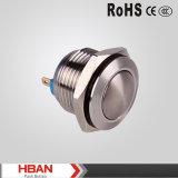 16mm Durchmesser-gewölbter Kopf2 Pin-Drucktastenschalter