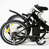 Bici plegable eléctrica del estilo de la manera con 7-Speed Derailleur