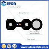 Câble optique plat extérieur d'intérieur de mode unitaire de la fibre 48 de messager de FTTH Kfrp
