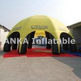 صفراء قابل للنفخ عنكبوت خيمة مع 8 ساق