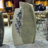 Nam het Witte Gesneden Graniet van Kashmire Grafsteen toe