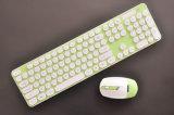 Computer-Maus und Tastatur der runden Tasten-2.4G drahtlose koreanische