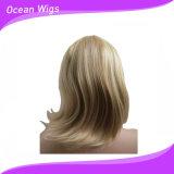 Perruque synthétique de cheveu droit de perruque de cheveu de type court