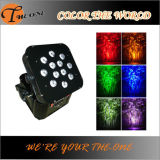 12*17W RGBWA+UV 6in1 LED Wireless und Battery Powred Flat PAR Can