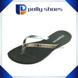 Deslizador liso das sandálias da praia das tangas da cinta dos falhanços T da aleta das mulheres