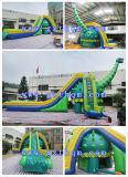 Corrediça de água inflável gigante do tamanho adulto engraçado do projeto com associação/corrediça verde ao ar livre