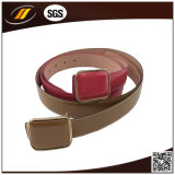 Soild Color Plastic Buckle Atacado Cheap Lady's PU Belt