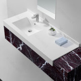 マットの終わりの白い人工的な石造りの固体表面の洗面器161025