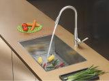 Edelstahl-quadratische handgemachte Untermontierungs-einzelne Filterglocke-Küche-Wanne