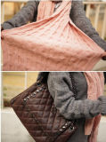 Hotsale 2016 Grote Vrouwen die van Giften de Sjaal van de Dikkere van de Geluiddemper van de Winter van de Sjaal van de Oneindigheid van de Sjaals van het Merk Stevige Vrouwen van de Kleur breien