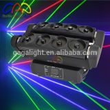Luz principal móvil colorida de la etapa del laser de la araña de las pistas 1720MW del RGB ocho de la exportación directa de la fábrica
