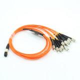 Cavo di zona di fibra ottica di MPO per la trasmissione ad alta densità