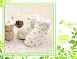 Soft caldo Organic Cotton Baby Shoes con Fancy Design