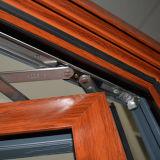 Алюминиевое деревянное окно Casement профиля с экраном K03024 нержавеющей стали