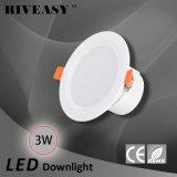 3W 2.5 blanco integrado del programa piloto de la lámpara SMD Ce&RoHS del proyector de la pulgada LED Downlight