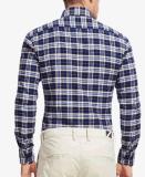 최상 남자의 봄에 의하여 검사되는 Flannel 길 소매 우연한 여가 셔츠