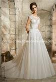 Крышка Mori Lee Morilee Sleeves платье венчания длины пола шнурка v заднее фантастичное (Dream-100072)