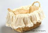 Lace.를 가진 작은 Cute Toy Bed Wicker Basket