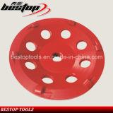 7 абразивный диск чашки бетона PCD дюйма каменный