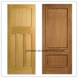 Porte en bois solide en bois évaluée de porte, d'entrée et de classique 100% d'incendie intérieur