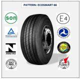 385/65r22.5 (ECOSMART 66) con el carro de la alta calidad del certificado de Europa (ESCRITURA DE LA ETIQUETA del ALCANCE del ECE) y los neumáticos radiales del omnibus