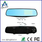 """Doppelobjektiv720p Rearview-Spiegel-Auto DVR mit 4.3 """" LCD Monitor-Schleife-Aufnahme und hinterem Objektiv"""