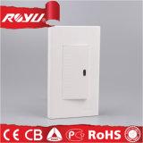 Interruttore chiaro della parete del montaggio di rossoreare dell'installazione di modo veloce del LED (WD601)