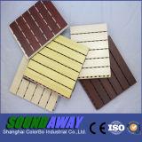 Важный фактор прорезает панель деревянной стены тимберса декоративной акустическую