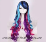 Парики курчавых волос нового цвета париков Cosplay типа женские длинние