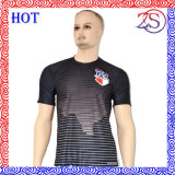 短い袖の丸首の人は乾燥した適合の昇華Tシャツを冷却する