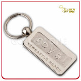 Custom Style Hot Stamped Brown PU Leather Key Tag
