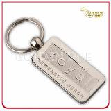Kundenspezifische Artheiße gestempelte Brown PU-lederne Schlüsselmarke