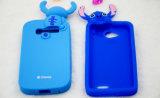 caixa do telefone de pilha do ponto dos desenhos animados do silicone 3D para os acessórios móveis do iPhone 6s/6plus (XSD-029)
