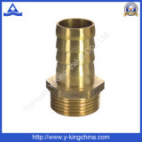 Encaixe reto de bronze do conetor da farpa da mangueira da linha masculina (YD-6037)