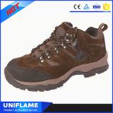 ブランドのゴム製Outsoleの革および網の上部の安全靴