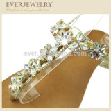 여자 샌들 단화를 위한 최신 판매 모조 다이아몬드 단화 갑피