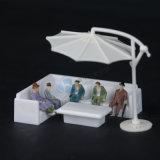Diecast модельная мебель, софа отдыха угловойая (2 PCS/set)