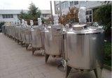 Réservoir de mélange de chauffage de vapeur d'acier inoxydable