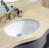 Feito no dissipador do banheiro de Undermount da porcelana de China com Cupc (SN013)