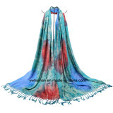 Jacquard Raindrop Pattern Scarf方法女性