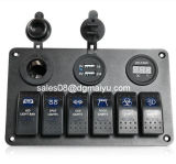 6 Gang Rocker Switch Panel / Cigarette Socket / USB Charger Panel para Marine / Boat